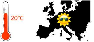 20 degrees in Europe